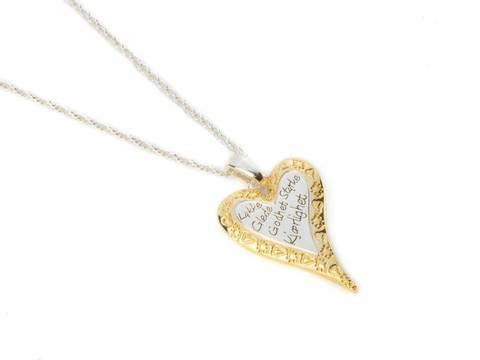 Bilde av 10645 Langt smykke hjerte gullkant