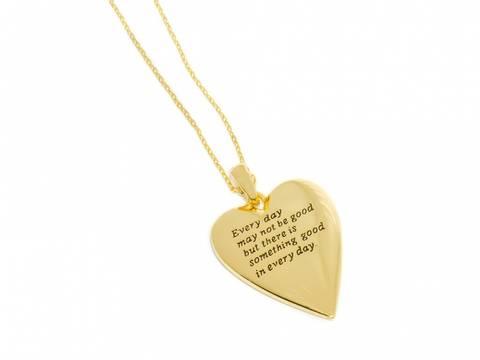 Bilde av 90148 Langt halssmykke med gullfarget hjerte med