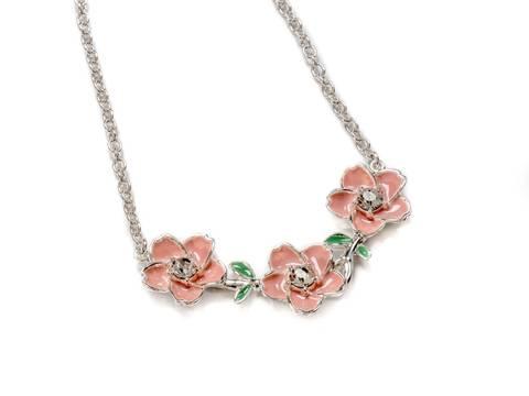 Bilde av 90152 kort smykke rosa blomster